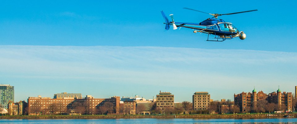 Helicopter Survey Boston Massachusetts