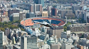 Aerial Photography -- Helicopters Over Boston